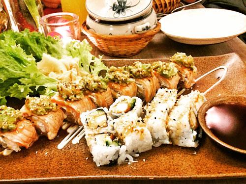 Sushi im Restaurant Lu Bu Soulfood